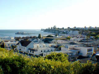 photo taken from bluff above Capitola Village.